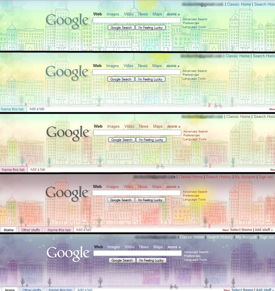 Google themes personalized homepage - While This New Feature Is Not A Mandatory Feature For A Good Homepage I Liked To Have The Opportunity Anyway Moreover The Available Themes Change With
